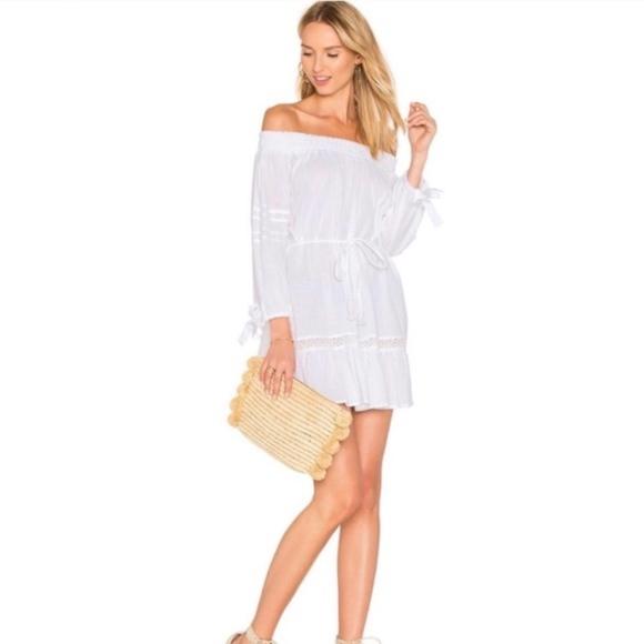 b84803ba60a9 crochet Faithfull the brand milo s white dress xs